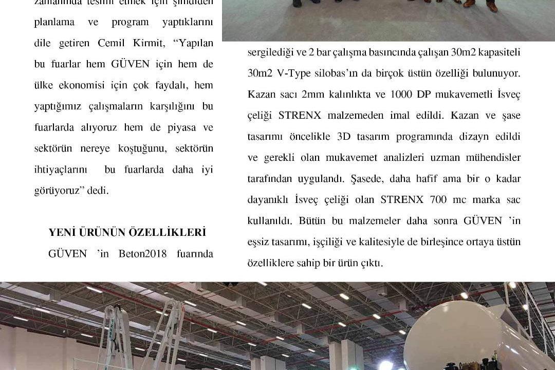 GÜVEN  BETON 2018 İZMİR FUARINDA GÖVDE  GÖSTERİSİ  YAPTI
